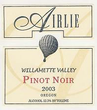 Pinot Noir ~ Willamette Valley